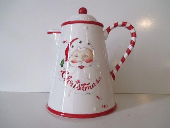 Decorative Ceramic Santa Coffee Pot