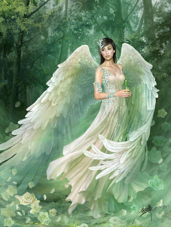 Angel grandes alas