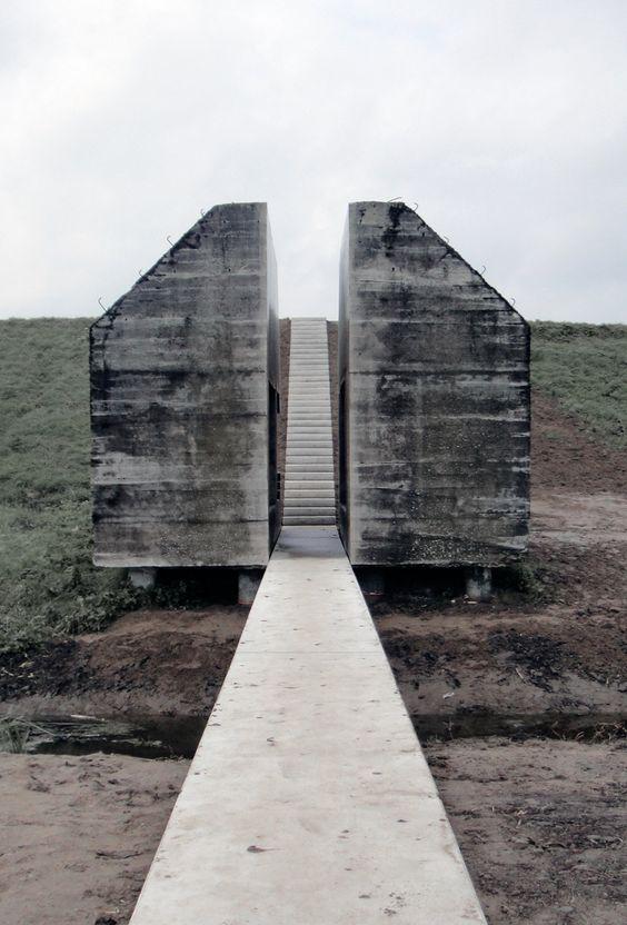 Bunker, Cut in Half