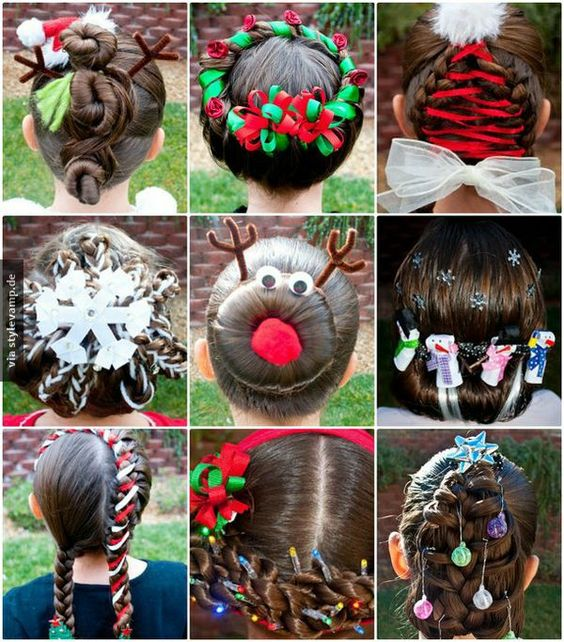 Super kreative Weihnachtsfrisuren