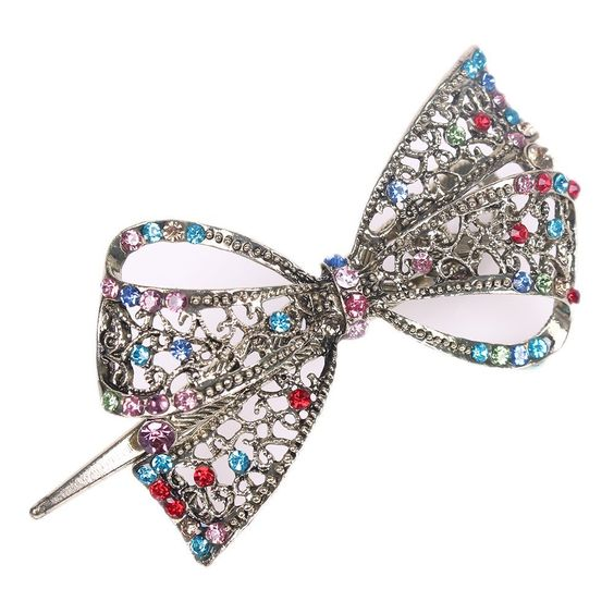 Butterfly Hairpin Crystal Bowknot Hair Clips Jewelry Women - employee review