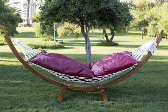 Add a hammock for comfort in your backyard