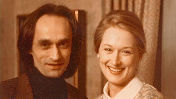 "John Cazale and Meryl Streep on the set of ""The Deer Hunter"""