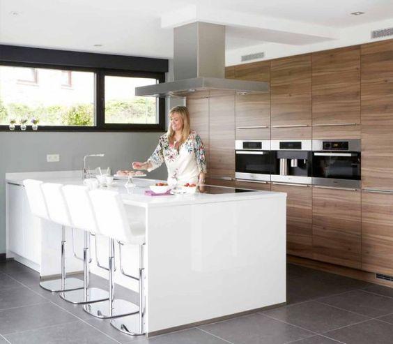 keukeneiland 4 zitpl  huis  Pinterest