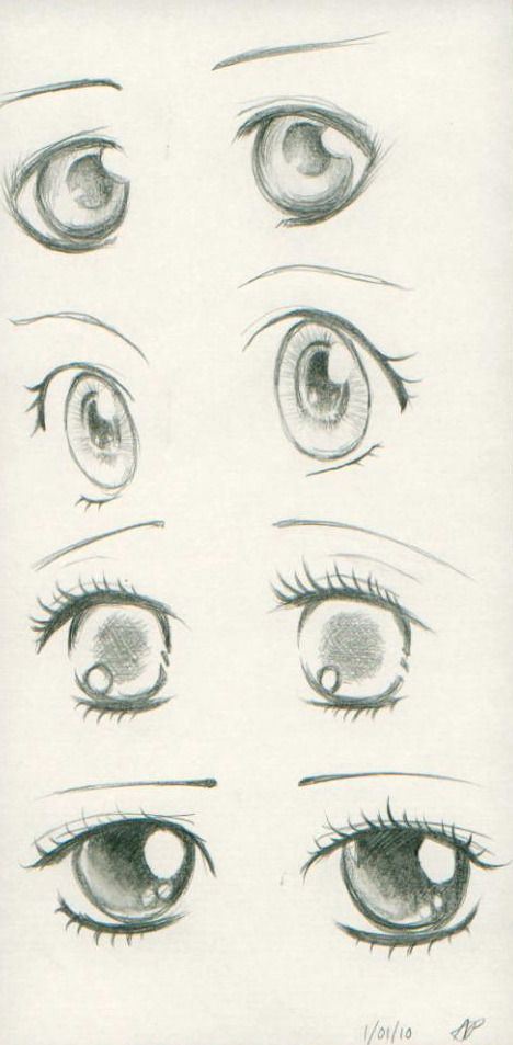 Anime Eyes I Made For Days I Used Some Reference In Some Eyes But Some Are Mine The Reference Are In A Book Of How To Draw A Anime Eyes Eye