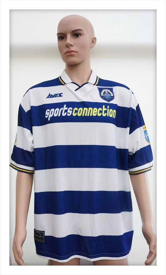 Greenock Morton Football Club Home Shirt 1997-2001. SFL Patches. XL. No Reserve