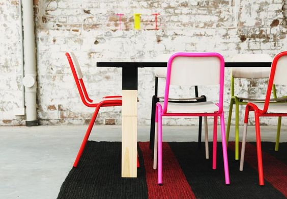 These chairs are called Jake. Nice, huh?