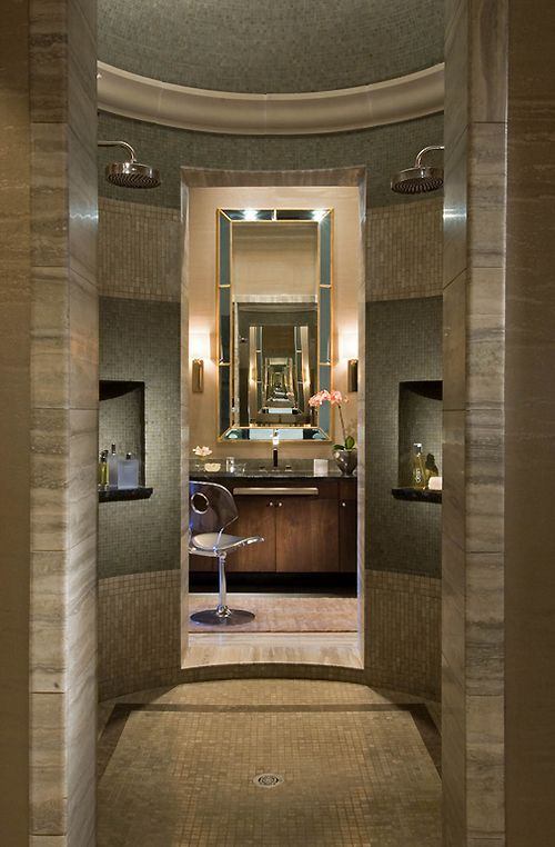 Incredible shower and bathroom.