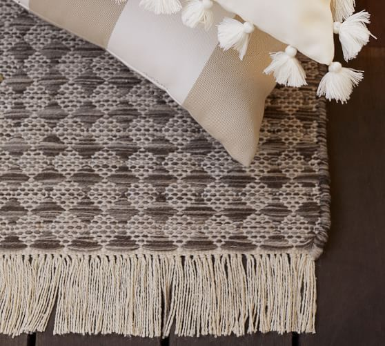 Oden Eco Friendly Indoor Outdoor Rug Charcoal Pottery Barn In
