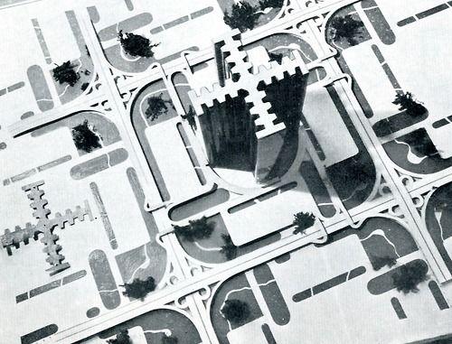 © le corbusier - tower of plan voisin - paris, france - 1922