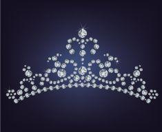 tiara coroa das mulheres feito dos diamantes ilustração vetorial arte