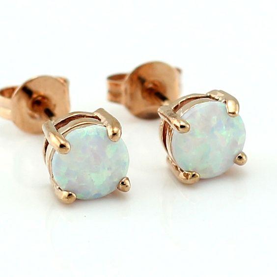 Opal Earring Studs // Simply Rustic Co. #trendyjewellery #fall2016 #fallstyle