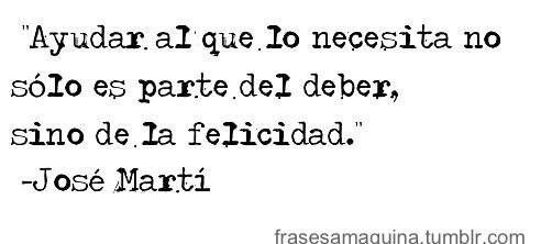 La felicidad-Jose Martí.