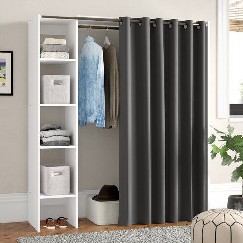 Ebern Designs 160cm Wide Clothes Storage System Wayfair Co Uk In 2020 Kleideraufbewahrungssystem Aufbewahrungssysteme Schrankzubehor