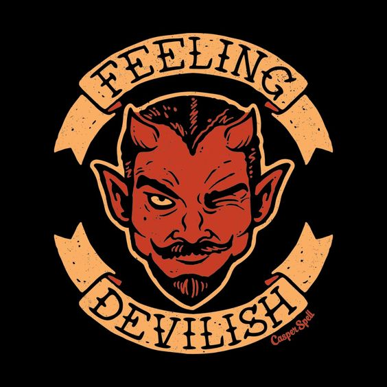 Feeling Devilish Men's T-Shirt by Casper Spell's Shop