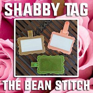 4x4(peach) luggage/ID ShabbyTag - FIVE designs INCLUDED!
