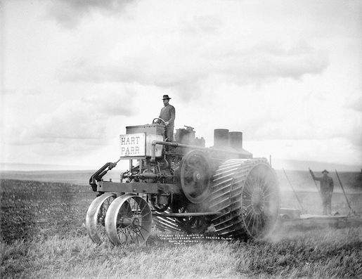 Gasoline powered Hart Parr & Plow Sherman County. circa 1910