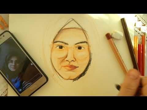 Kuru Boya Portre Calismasi Youtube Portre Resimler Cizimler