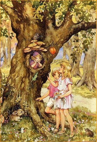 Fairy home. Dorothy Wheeler I had never seen this but she is just like my shining face in the tree