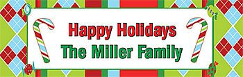 Personalized Holiday Banners $9.95!