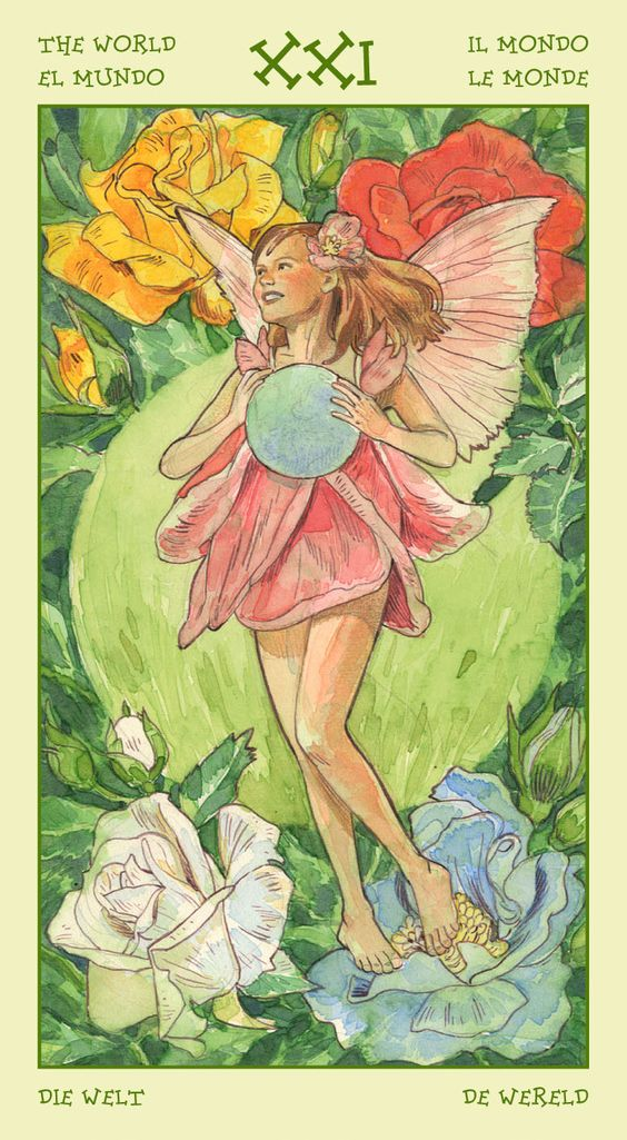 The World - Spirit of Flowers Tarot
