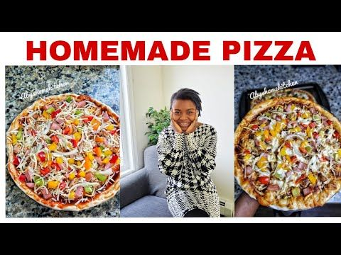 Quick And Easy Homemade Pizza Homemade Pizza Video How To Make Pizza At Home Abyshomekitchen Youtu Easy Homemade Pizza Homemade Pizza How To Make Pizza