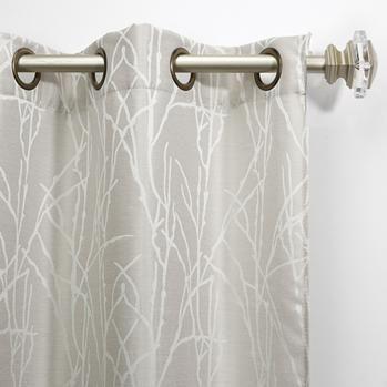 Decor Finesse Grommet Drapery Panel - Set of 2 (Dove Grey)