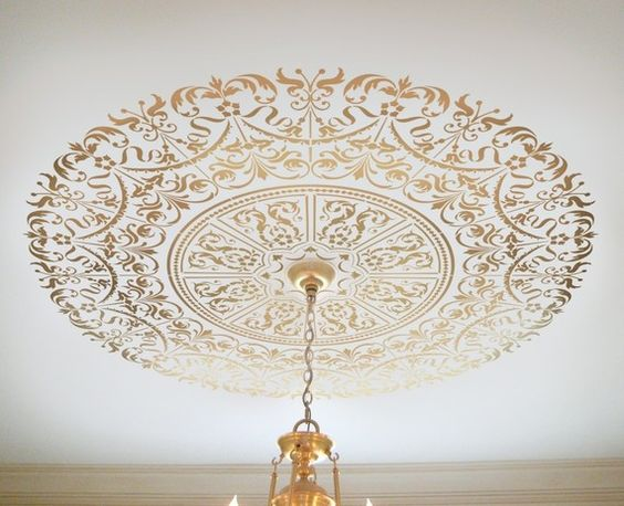 Decorative Stencil Georgian Ceiling Medallion - Wall and Ceiling stencils for…