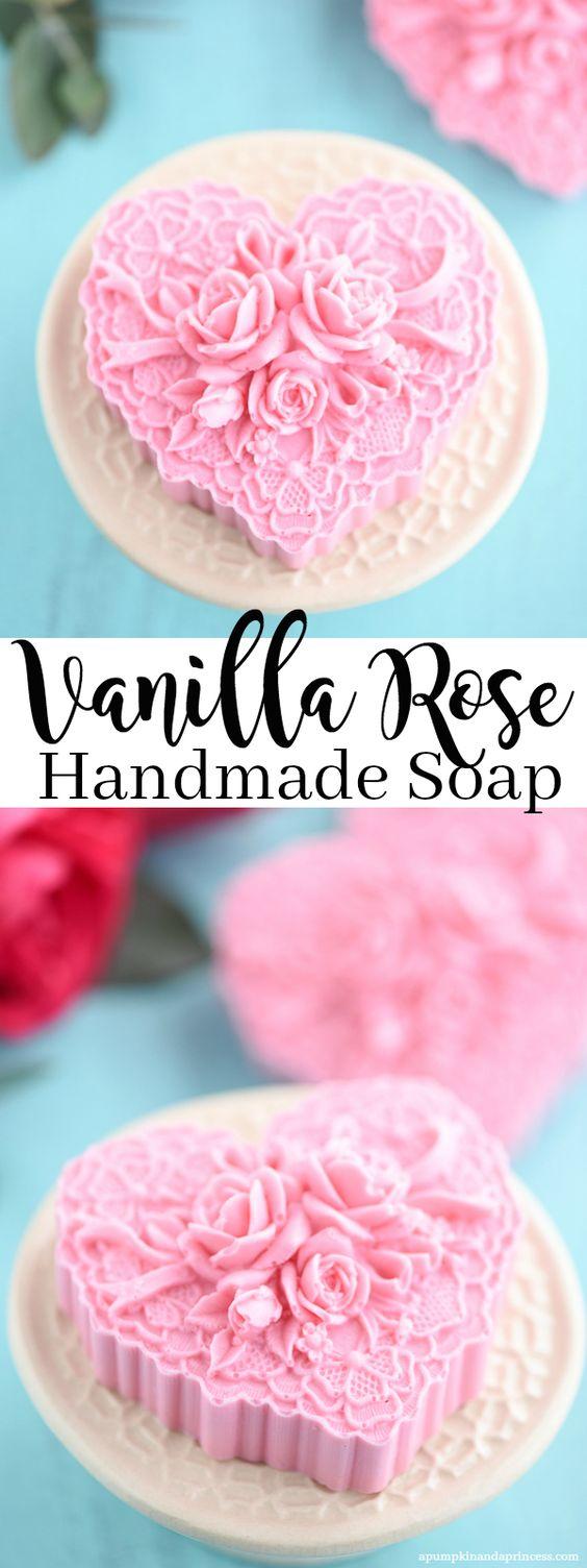 Handmade Vanilla Rose Soap