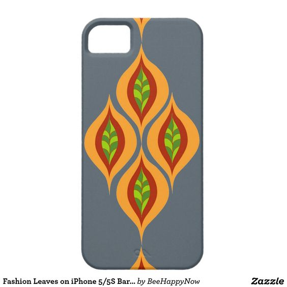 Fashion Leaves on iPhone 5/5S Barely There Case iPhone 5 Cases
