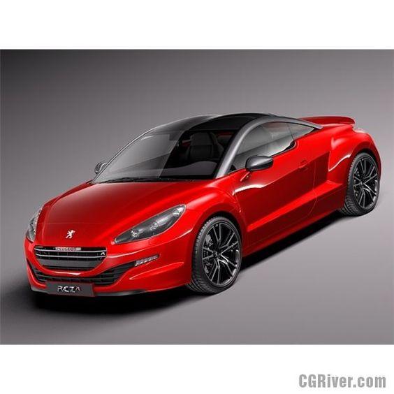 Peugeot RCZ R 2014 - 3D Model