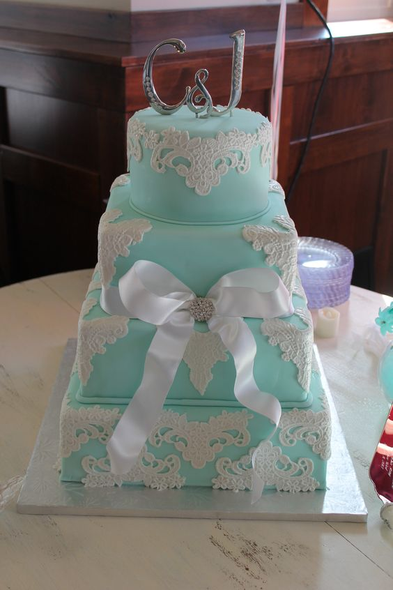 Cake With Fondant Lace : - Fondant with fondant lace overlays. CAKE MANIA ...