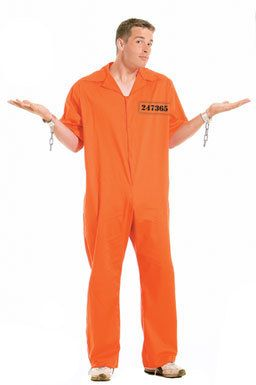 Orange Jumpsuit Prisoner Adult Mens Halloween Costume | Costumes ...