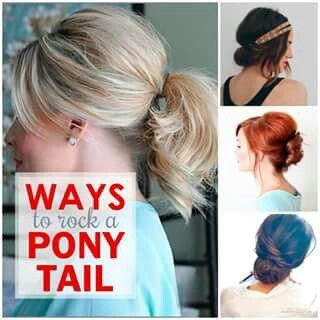 Rockin the pony tail.....
