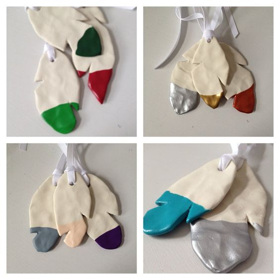 Clay feather ornament, Christmas gift, pearsonalized ornament - Choose your color on Etsy, $8.61 CAD