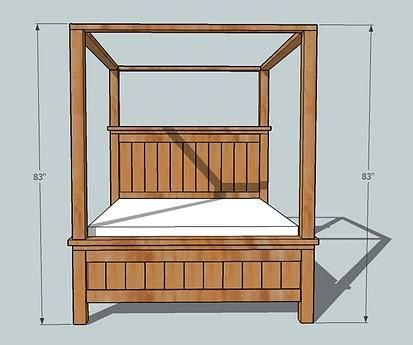 Ana White Build A Farmhouse Bed Canopy Free And Easy
