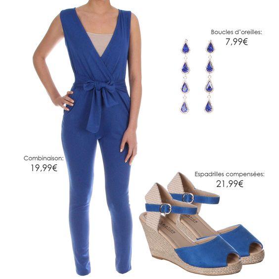 BLEU ROYAL jusqu'aux pieds! Combinaison >> http://bit.ly/1WusMGB Boucles d'oreilles >> http://bit.ly/1NZfHOC Espadrilles >> http://bit.ly/1T9iK8f Retrouvez plus de couleurs sur Milyshop.com #look #fashion #mode #vêtement #shopping #milyshop
