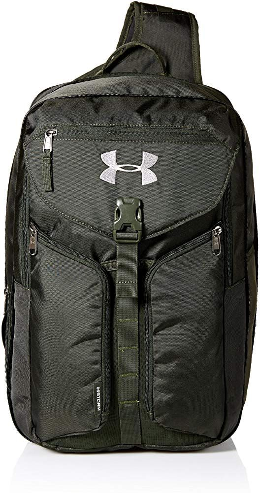 Under Armour Compel Sling 2 0 Artillery Green 357 Black One Size Fits All Clothing Leather Sling Bag Bags Duffel Bag Backpack