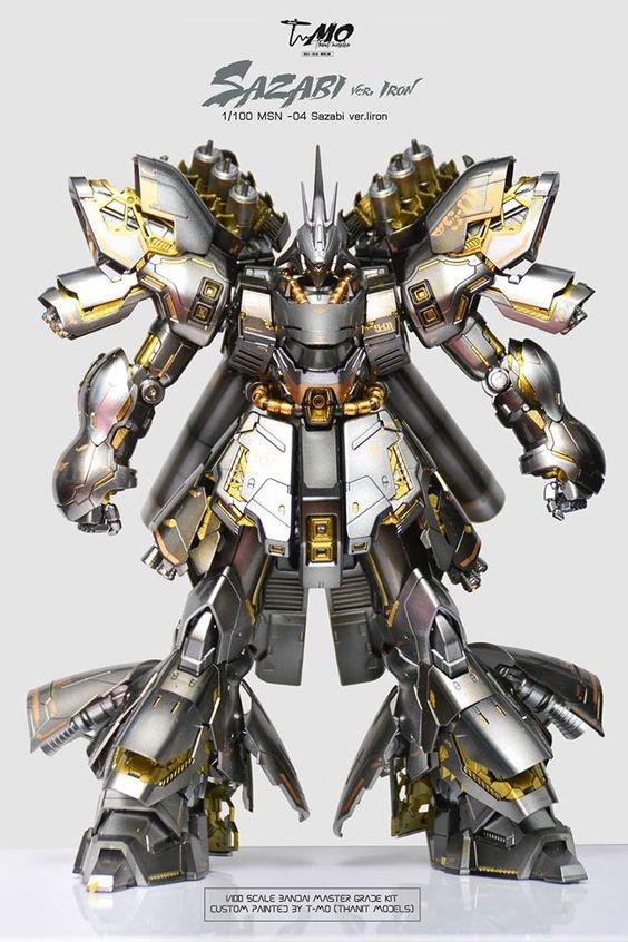 T-MO's MG 1/100 SAZABI Ver.IRON: Full REVIEW Big Size Images, Info | GUNJAP
