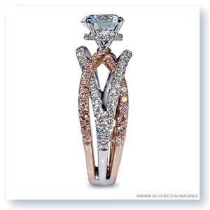 MARK SILVERSTEIN Split Shank 18K - Rose Gold Diamond Engagement Ring 2100-18KWR-WPD