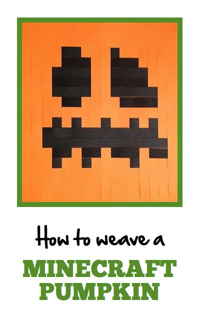 Make your own paper Minecraft pumpkin! Great offline or rainy day activity for kids.