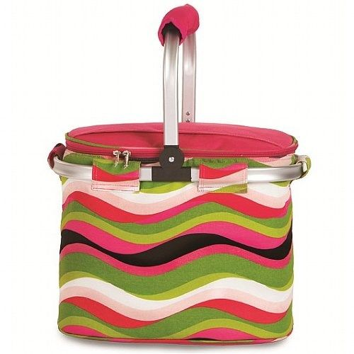 Picnic Plus PSM-148WW Shelby Collapsible Tote in Wavy Watermelon