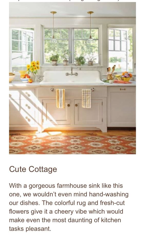Farmhouse sink and natural light