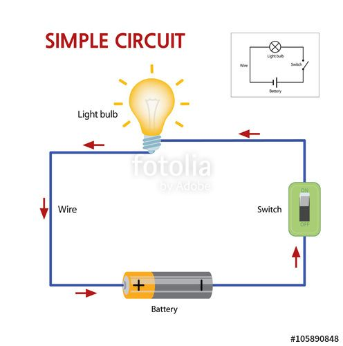 How Batteries Work Google Search Simple Circuit Circuit Switch