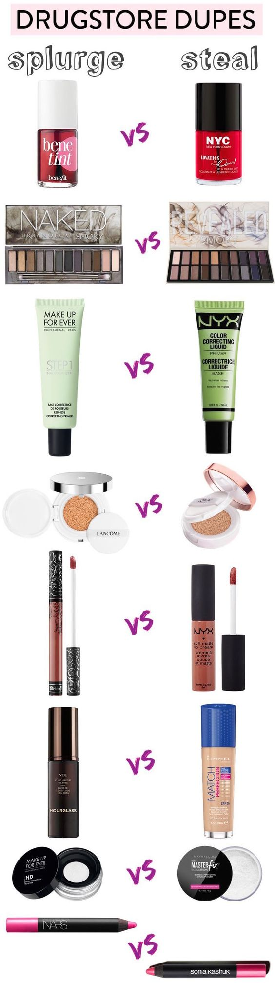 Get the high-end look without breaking the bank with these cheap drugstore makeup dupes!