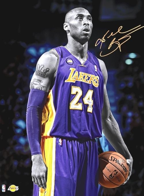 Kobe Bryant Poster Lakers Large Photo Wall Art Print 24x36