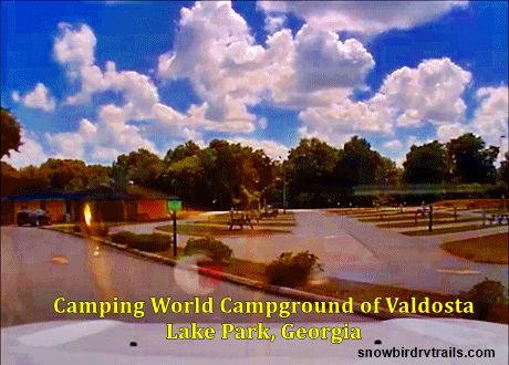 Entrance to Camping World of Valdosta.s Campground