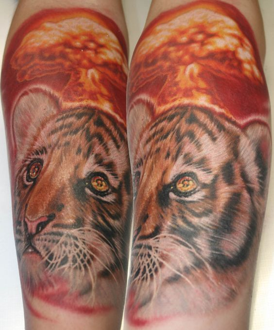 Oregon tiger tattoo and ink on pinterest for Celtic tattoo artists portland oregon