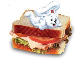Buenos días!, levante la mano quien no desayuno en casa y se va a comer un rico y delicioso sandwich ˁ( ^㉨^)ˀ つ
