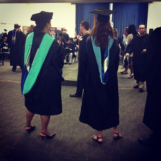 Professors getting ready to walk over to the gym with the students #lynngrad #college #graduation